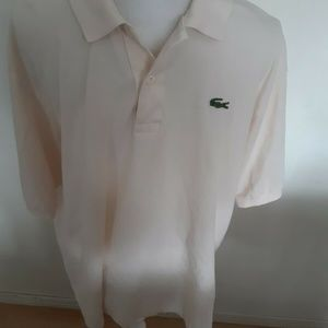 Lacoste Polo Shirt Cream White Color Size 8 XXL